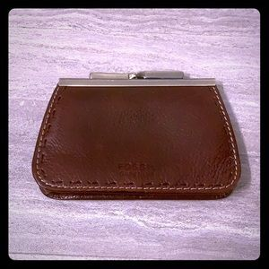 Fossil Leather Card/ Coin Purse